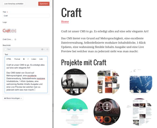 Live Preview Webdesign Bern Schweiz