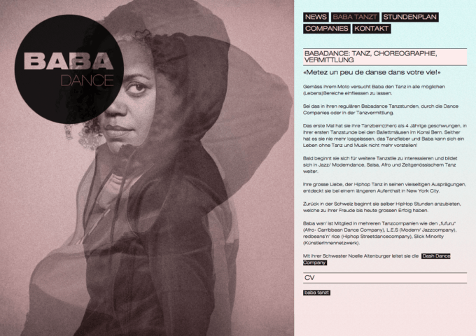 Babadance Webdesign 2 Webdesign Bern Schweiz