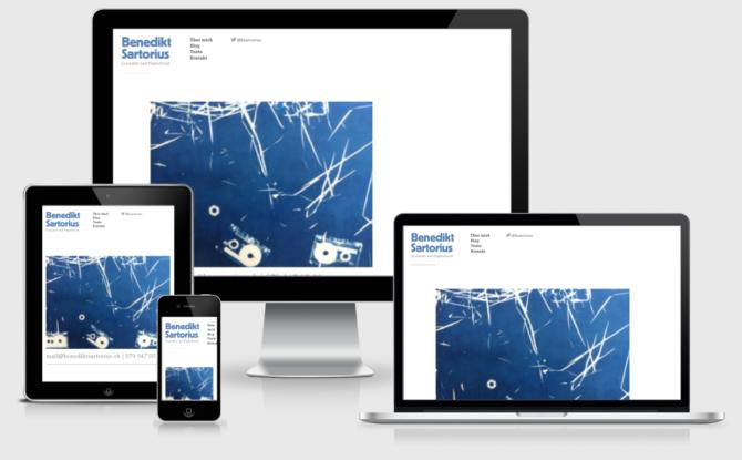 Benediktsartorius Mockup Webdesign Bern Schweiz