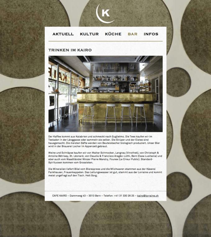 Cafe Kairo Webdesign 3 Webdesign Bern Schweiz