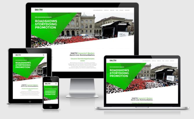 Daktiv Responsive Webdesign Bern Schweiz