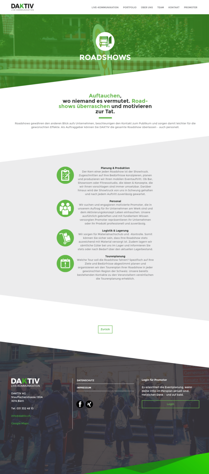 Daktiv Webdesign Outline41 Webdesign Bern Schweiz