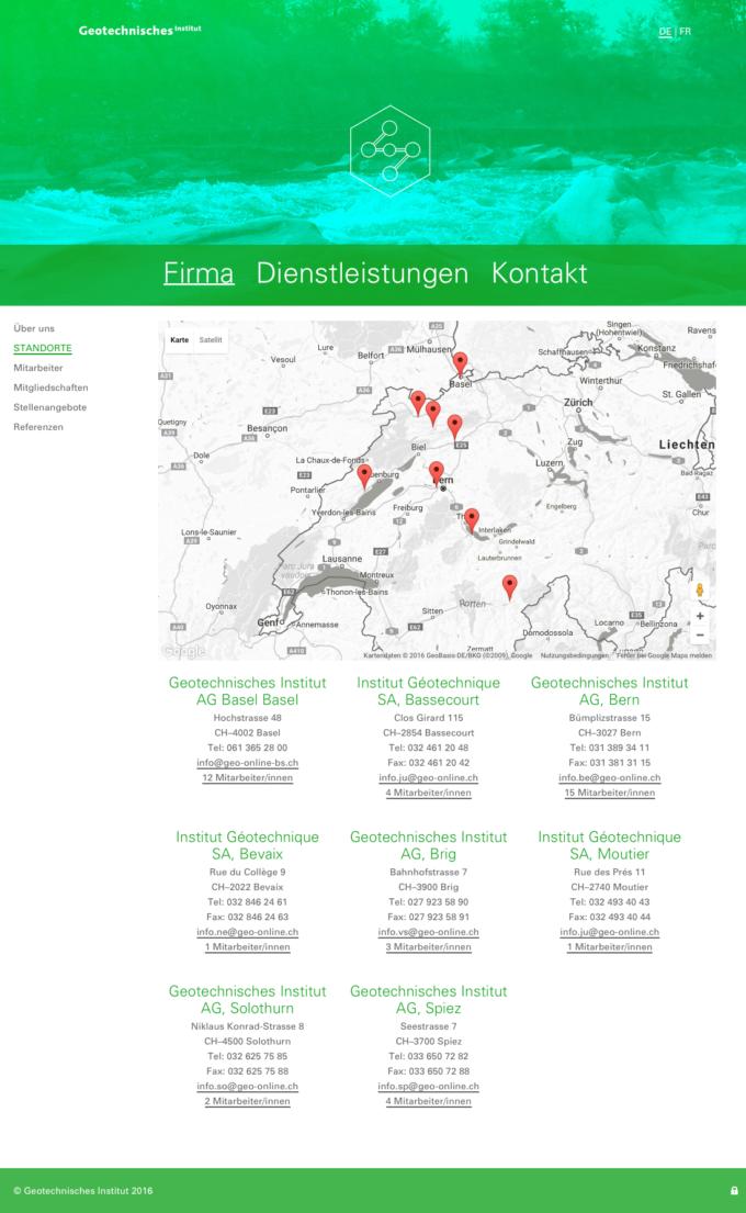 Geo Online Webdesign Outline4 Ch 2 Webdesign Bern Schweiz