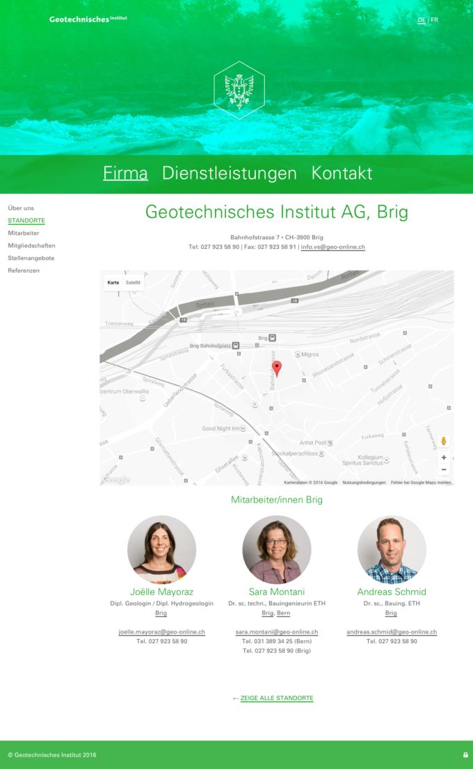 Geo Online Webdesign Outline4 Ch 8 Webdesign Bern Schweiz