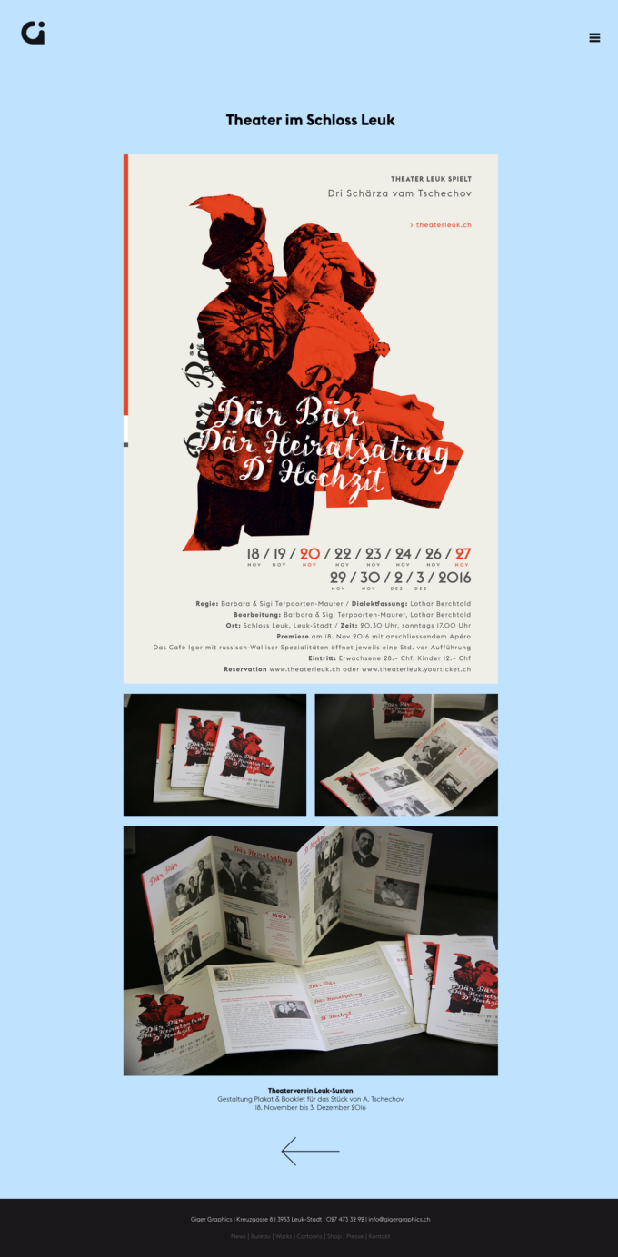 Gigergraphics Ch 01 Webdesign Bern Schweiz