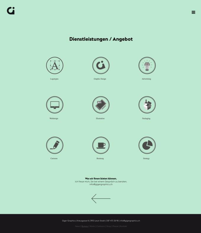 Gigergraphics Ch 03 Webdesign Bern Schweiz