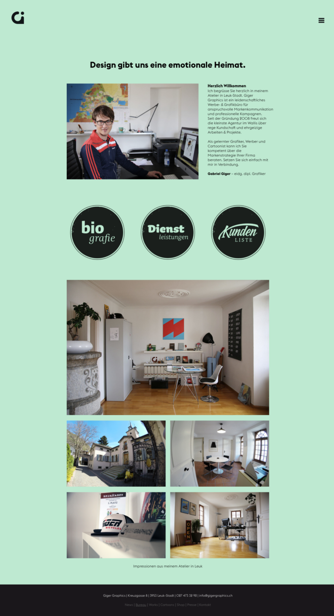 Gigergraphics Ch 02 Webdesign Bern Schweiz