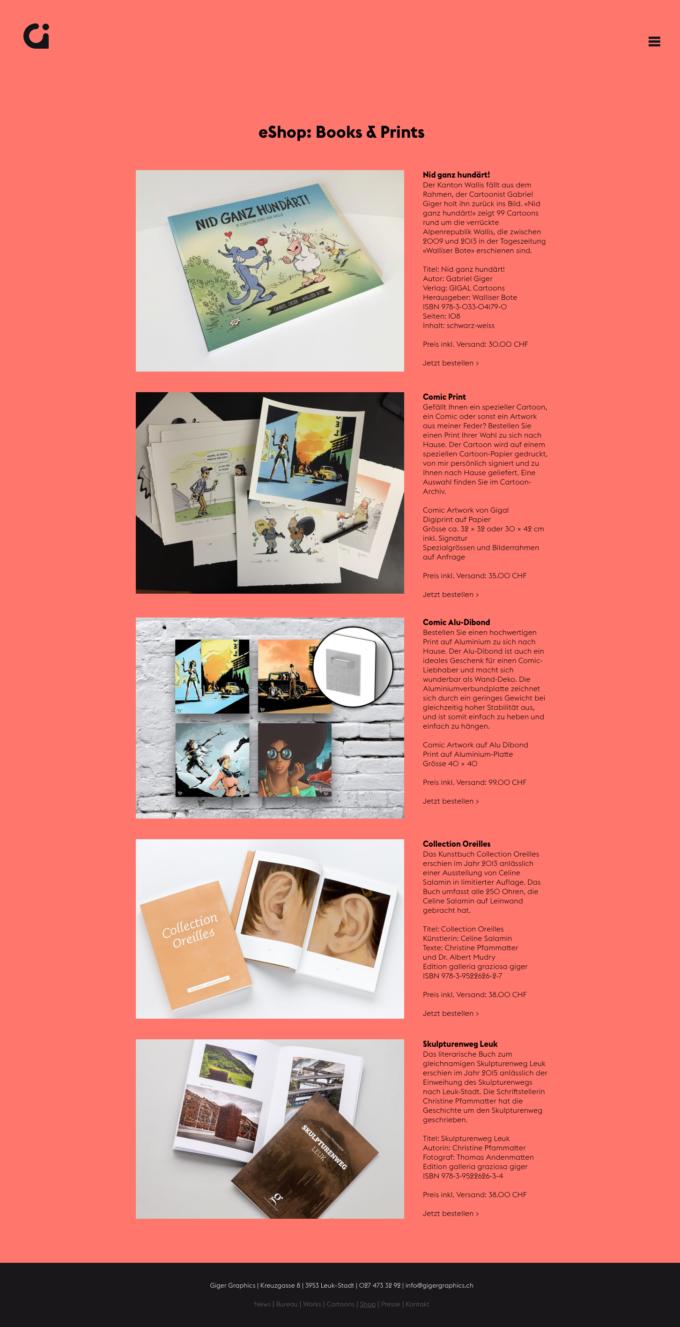 Gigergraphics Ch 06 Webdesign Bern Schweiz