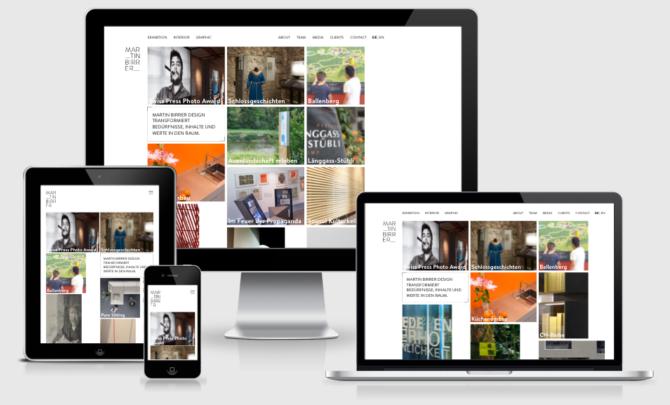 Martinbirrer Mockup Webdesign Bern Schweiz