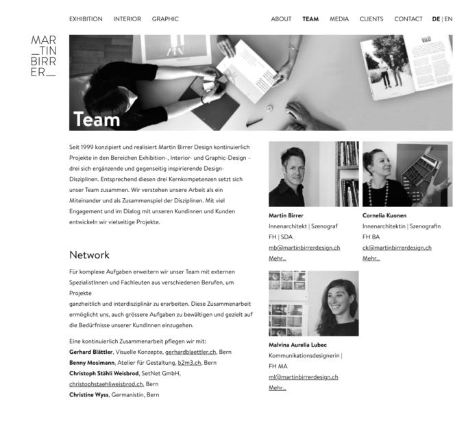 Martinbirrerdesign Webdesign 4 Webdesign Bern Schweiz