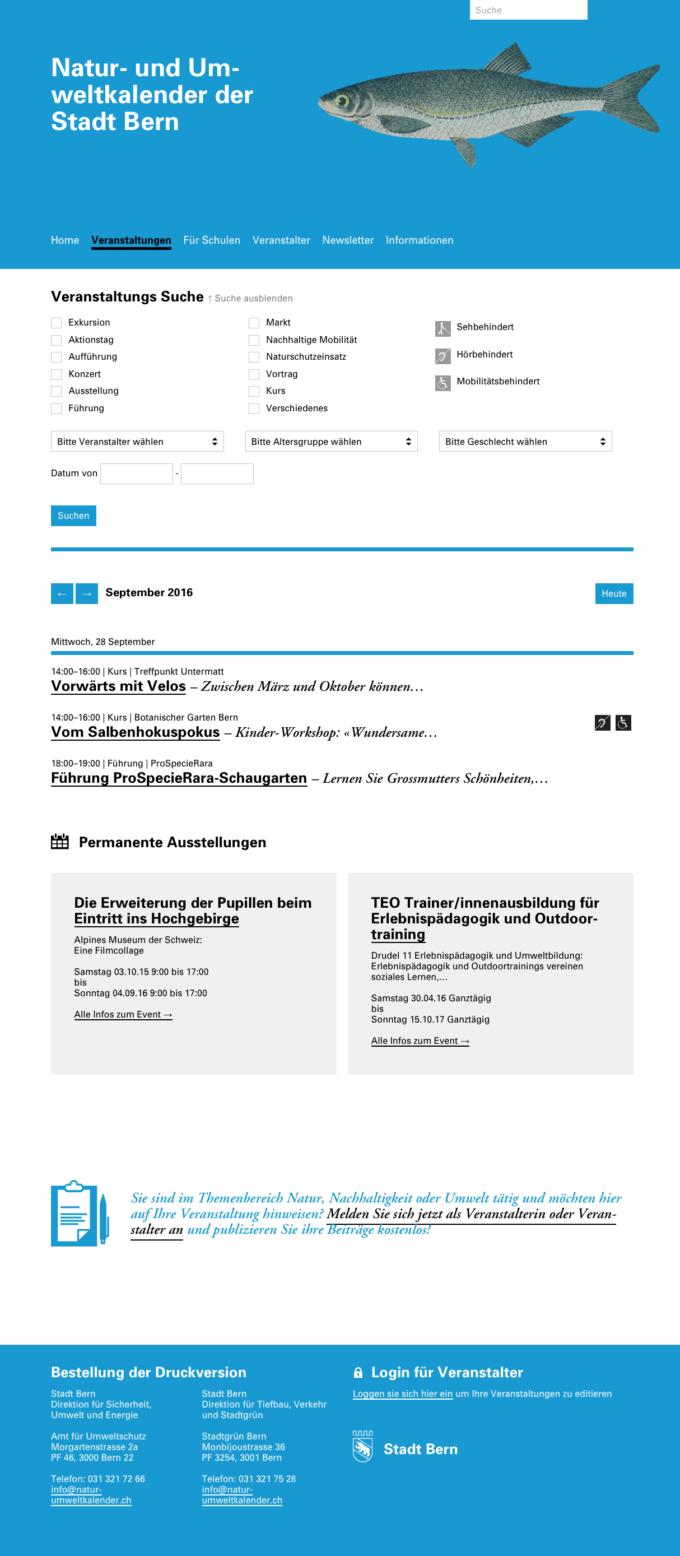 Natur Umweltkalender Bern Webdesign Outline4 3 Webdesign Bern Schweiz