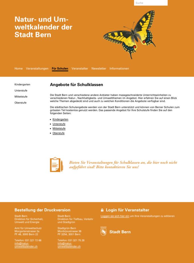 Natur Umweltkalender Bern Webdesign Outline4 4 Webdesign Bern Schweiz