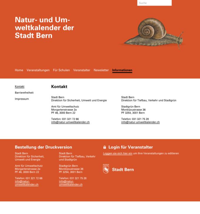 Natur Umweltkalender Bern Webdesign Outline4 6 Webdesign Bern Schweiz