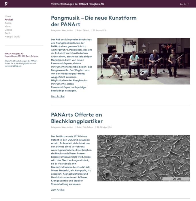 Panart Webdesign 3 Webdesign Bern Schweiz