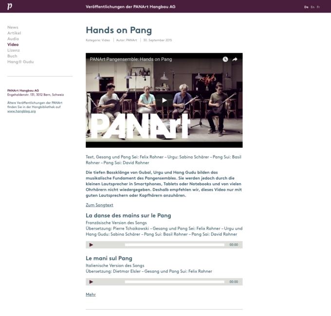 Panart Webdesign 4 Webdesign Bern Schweiz