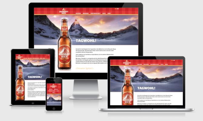 Zermattbier Mockup Webdesign Bern Schweiz