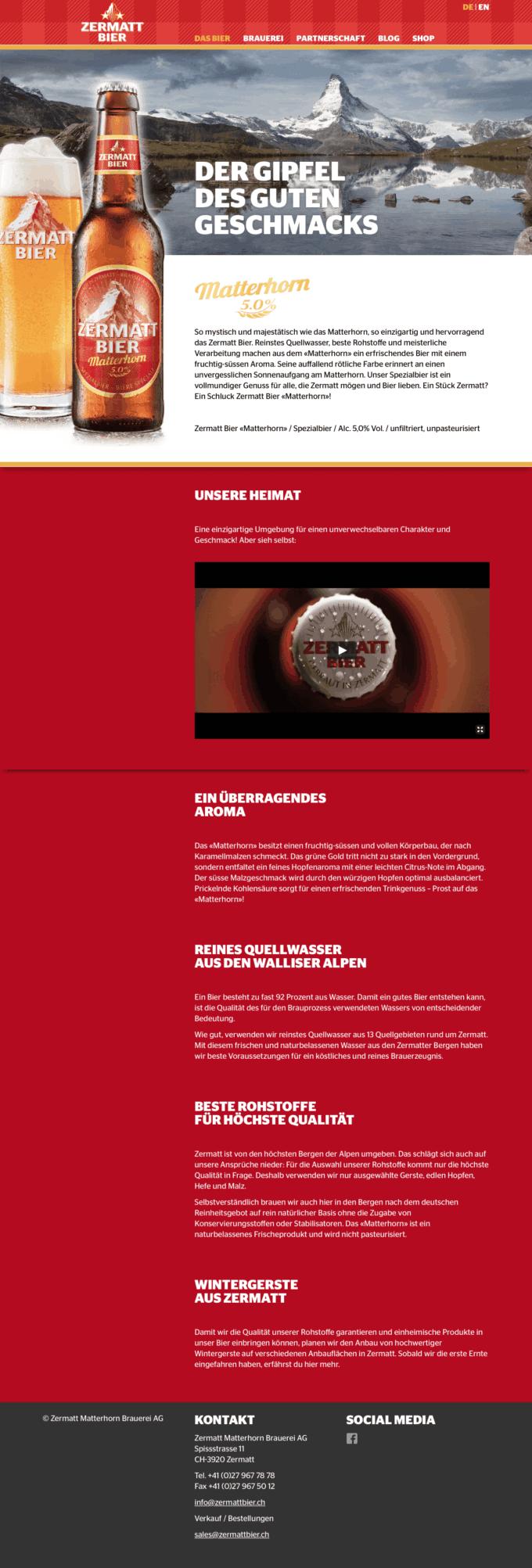 Zermattbier Webdesign 2 Webdesign Bern Schweiz