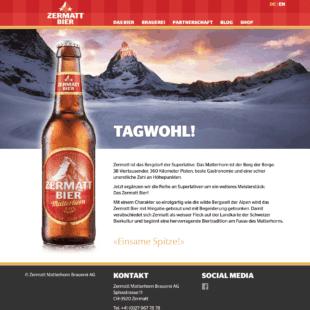 Zermattbier Webdesign 1 Webdesign Bern Schweiz